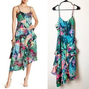 Romeo & Juliet Printed Asymmetric Hem Slip Dress M